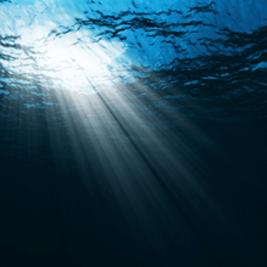 water-light-shining-through